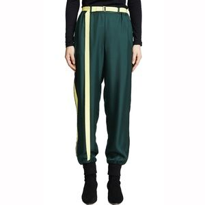 Robert Rodriguez Green Silk Track pants
